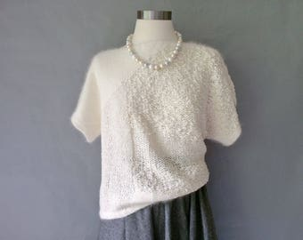 Vintage Christian Dior short sleeve sweater size S/M