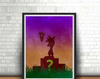 Crash Bandicoot Inspired Minimalist Art Print Sony PlayStation Classics