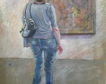 Original Art, Original Painting, Original Oil Painting, Painting on Brown Paper, Original Scene, Contemporary Art, Houseworming Gift
