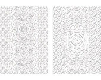 Spellbinders M-Bossabilities A4 Card Embossing Folder Ocean Dreams