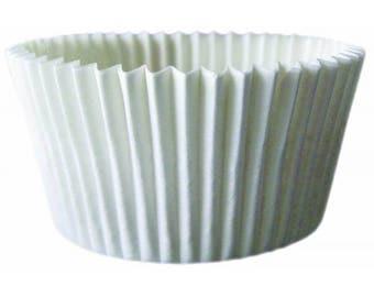 Jumbo Baking Cups White 24/Pkg