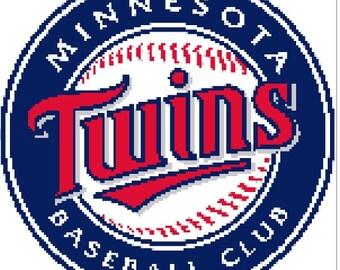 Minnesota Twins Baseball team logo cross stitch pattern