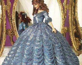 152. Barbie fashion doll dress-crochet pattern in pdf