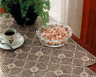 188. Vintage crochet  runner UK pattern  in pdf