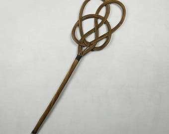 French carpet beater, rattan