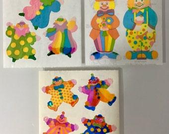 Vintage Sandylion Pearl Rainbow Clown Stickers