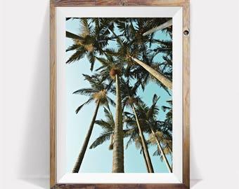 Print of palm tree beach home palm tree wall art decor for Palm tree home decorations