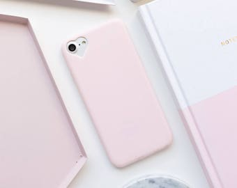 Light Pink Heart iPhone Case - iPhone 7 Case, iPhone 7 Plus Case, iPhone 6 case, iPhone 6s Case, iPhone 6 Plus Case, iPhone 6s Plus Case, SS