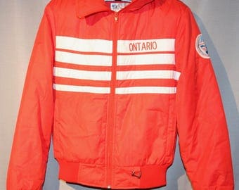 Vintage 1987 Canada Games Team Ontario Red Coat ! Rare Sporting Collectible +