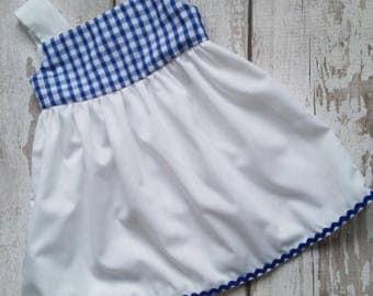 Gingham Dress, MADE TO ORDER, Baby Dress, Baby Girl Clothing, Summer Dress, Handmade Clothing, Kid's Clothing, Handmade Children's Clothes