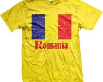 Flag of Romania, Romanian Flag, Mandrie Men's T-shirt, NOFO_00048