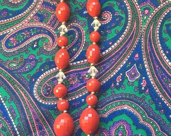 Hot Mama Red Antique Bead Necklace