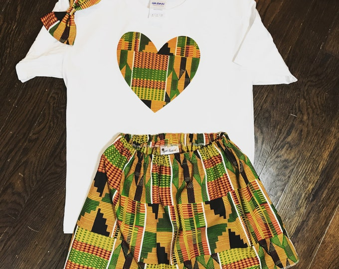 African Kente & Heart Outfit!