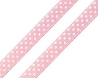 20 m satin ribbon in pink points approximately 6 mm wide