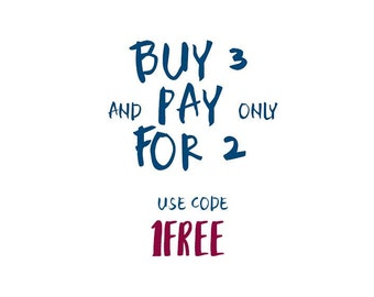 Promotion 3-for-2  /  Buy 2 get 1 free