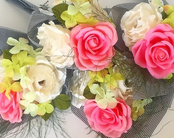 MOTHER'S DAY Rose & Beryl Paper Flower Bouquet