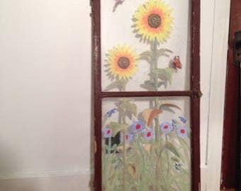 Sunflower Window Painting