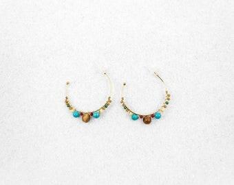 Hypoallergenic Silicone Beads Large Hoop Earrings