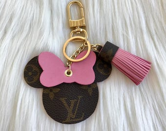 Upcycled Louis Vuitton Minnie Mouse Bag Charm