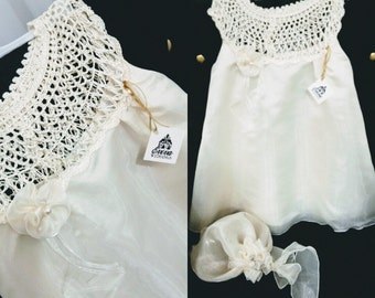Baby Wedding Dress - Knitted top