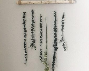 Floral wall hanging, greenery wall hanging, greenery backdrop, floral backdrop, floral wall decor, wall hanging, eucalyptus