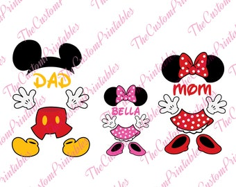 Dad, Mom, Bella, Mickey Mouse, Minnie, SVG, Cricut Files, Silhouette Files, Cameo, Vector, T-shirt,Iron On