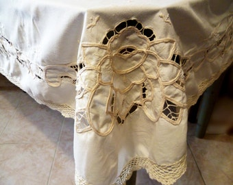 FREE SHIPPING!!! Beige tablecloth rectangular/free shipping!  Beige rectangular tablecloth