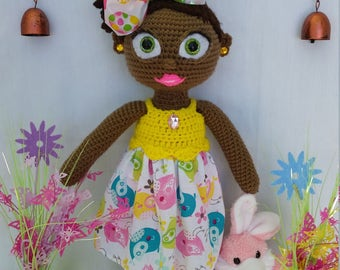 Easter theme African American Doll