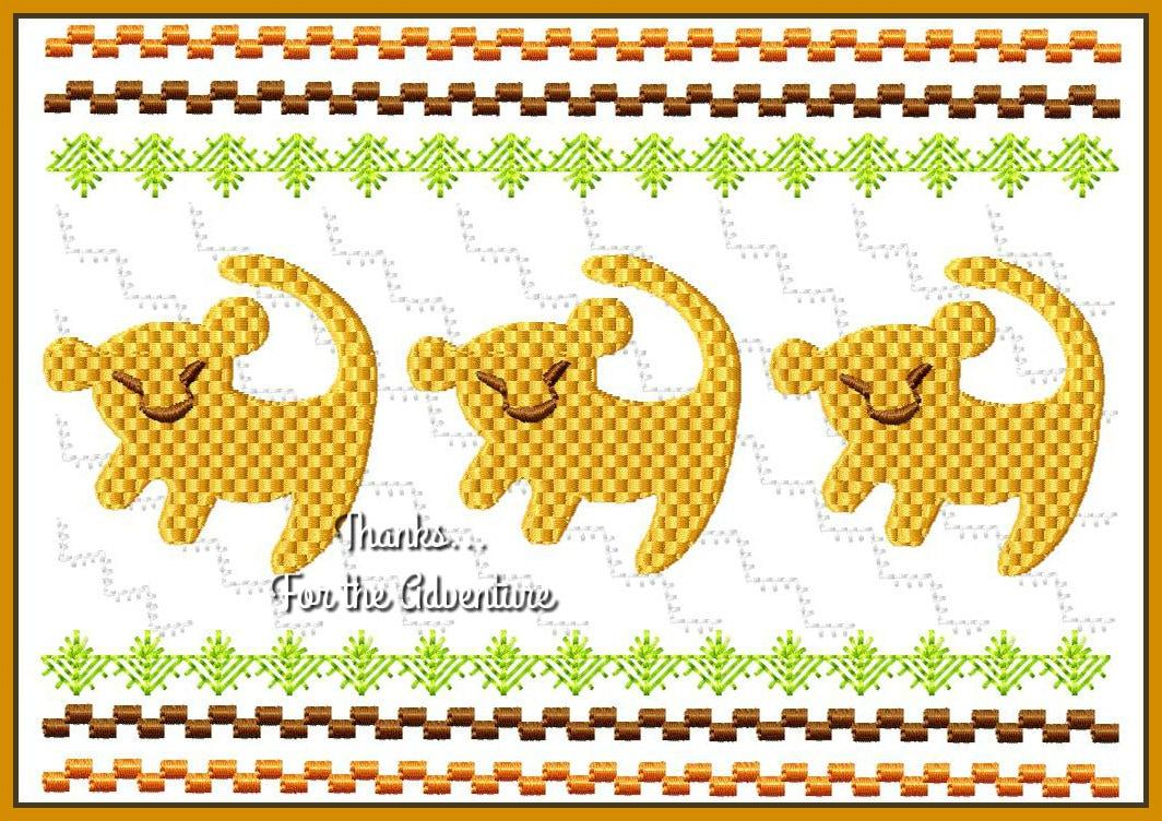 König der Löwen Baby Simba Faux Raucher Smocked digitale Maschine ...