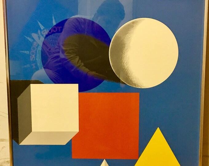Herbert Bayer, 50 Years Of Bauhaus, Large Vintage Silkscreen W/o Type