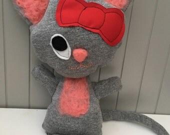 Pink happy cat rag doll