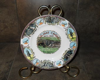 The Ironstone China Matsumura & Co Carlsbad Caverns National Park Bat Flight Amphitheater Made in Japan Collectible Plate
