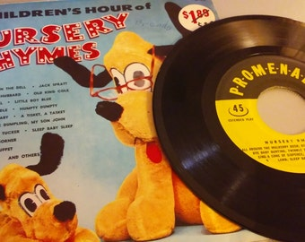 RARE FIND! Parade Records 45 rpm Childrens Hour of Nursery Rhymes