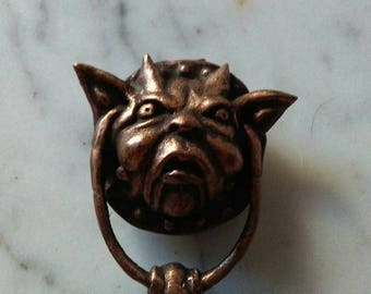 Labyrinth Door Knocker brooch