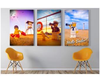 Hello Sailor Lego Art Instant Download | Bathroom Decor | Lego Art | Lego  Gift |