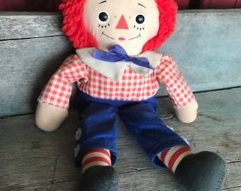 Vintage Knickerbocker Raggedy Andy |  12 Inch Raggedy Andy