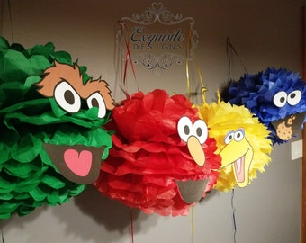 Sesame Street Pom Poms -- SET OF 4