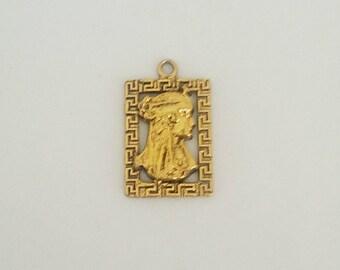Vintage Egyptian Gold Pendant