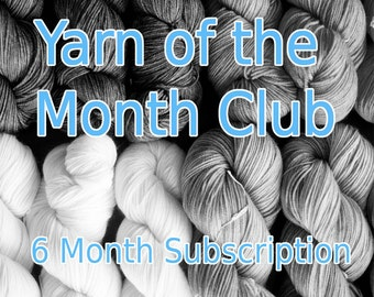 Yarn of the Month | Yarn Club Subscription | Exclusive Indie Dyed Sock Yarn | Made in Canada | 6 Month (Start September 2017) |