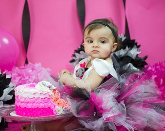 1st birthday - cake smash outfit - first birthday tutu - tutu dress - birthday outfit - cake smash tutu - birthday party -  first birthday