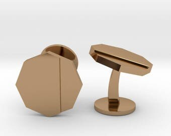 Octagon Cufflinks | Wedding Geek & Gaming Cuff links | Available as Sets
