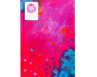 "Multicolor Jane Davenport Canvas Journal, 6"" x 9"""