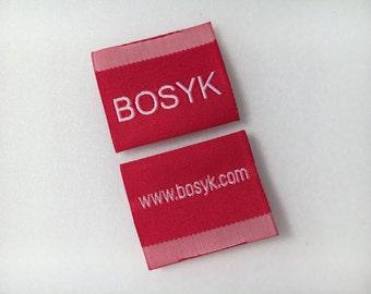 300 Hem label, Blanket labels, Woven label, Damask Soft label, Woven Hem label, Hem tag, Woven Pip label, custom clothing labels