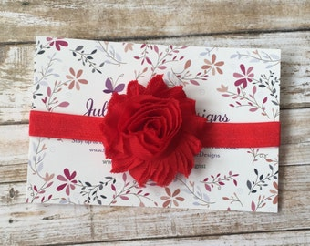 Red Headband/Red Baby Headband/Valentine's Day Headband/Baby Headband/Baby Girl Headband/Infant Headband/Newborn Headband/Christmas Headband