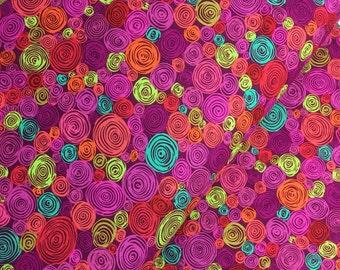 Rolled Paper in Red from the Kaffe Fassett Classics Collection, Choose Your Cut, Cotton Fabric
