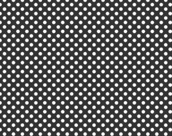 Small Dots in Black from Riley Blake, Cotton Fabric, Choose the Cut, C350-110 BLACK