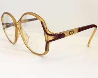 Vtg Christian Dior Frames French 80's Era Designer Style Oversized Sunglasses Christian Dior Fashions French Fashions