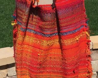 Saori handwoven  dress with shrug jacket