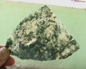 Natural moss agate slice Stone Gemstone