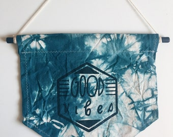 SALE! Tie dyed Good Vibes banner